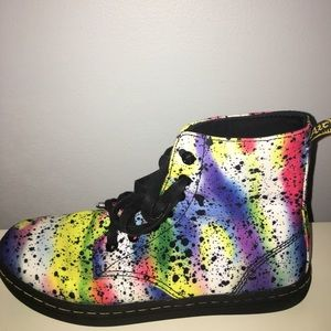 Dr. Martens Hackney Multi-Colored Canvas Boot